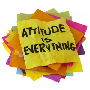 attitude is everything post it notes