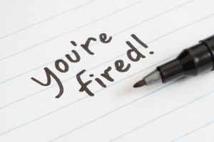 you're fired on paper