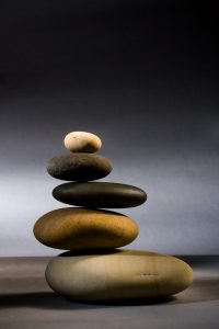 Lisa Ryan Grategy stones in zen balance